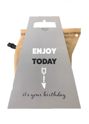 ENJOY TODAY * BIRTHDAY coffeebrewer gift card