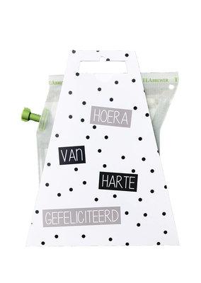 HOERA VAN HARTE GEFELICITEERD teabrewer gift card