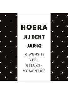 HOERA JIJ BENT JARIG •  CHOCOLADEWENS